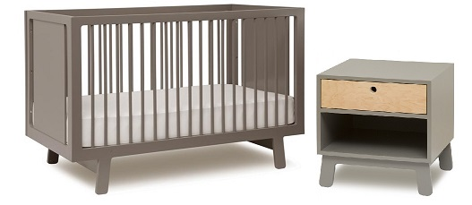 Oeuf Sparrow cot and nightstand